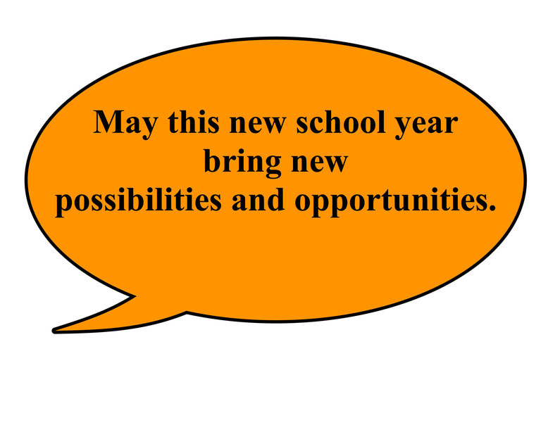 May this new school new bring new possibilities