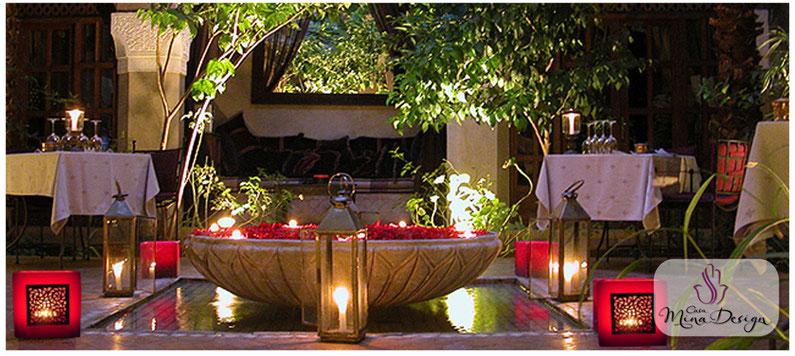 orientalische Kerzen Wachswindlicht Wachs-Windlichter Casa Mina Design