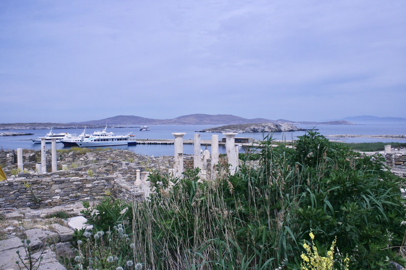 Travel Guide Delos UNESCO island ofpenguinsandelephants of penguins & elephants Greece commercial port