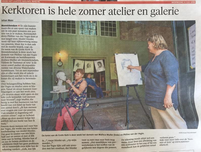 Noordhollands Dagblad 4 juli 2018 door Johan Moes, foto Ella Tilgenkamp