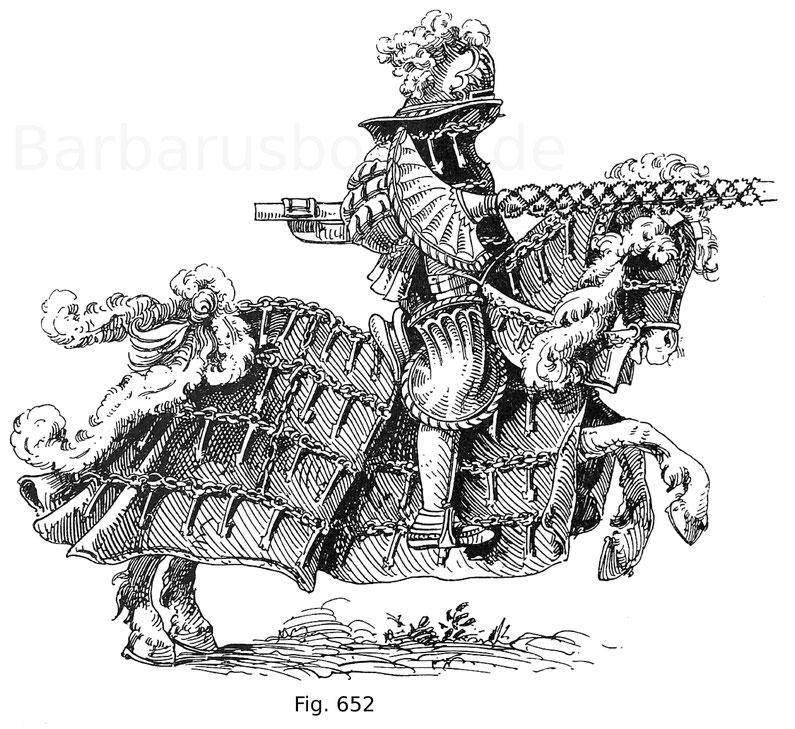 """Fig. 652. Herzog Wilhelm IV. von Bayern im """"Anzogen rennen"""", gehalten Mittwoch nach St. Paulstag 1512. Aus dem Turnierbuch Herzog Wilhelms IV. von Bayern. Nach Schlichtegroll."""