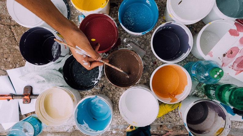 Malen als Therapie. Inspirationen für kreative und heilsame Malprozesse #Malen #Malerei #Kreativität #seelebaumelt