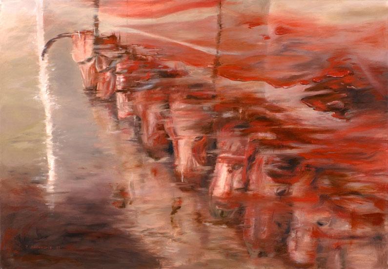 Fluidos 2006. óleo sobre lienzo 80X115 cm