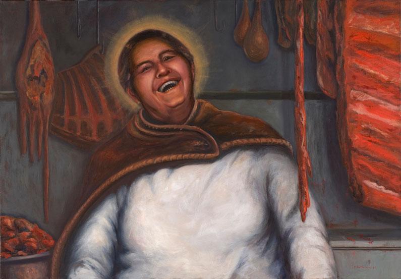 Yo soy el salvador 2007, óleo sobre lienzo 80X115 cm