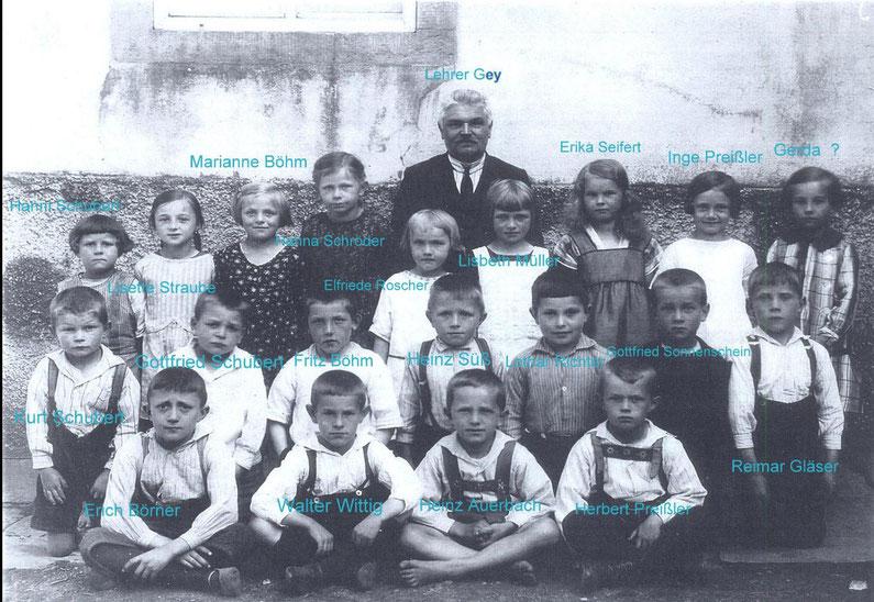 Bild: Oberlehrer Oswald Gey Schule Wünschendorf 1929