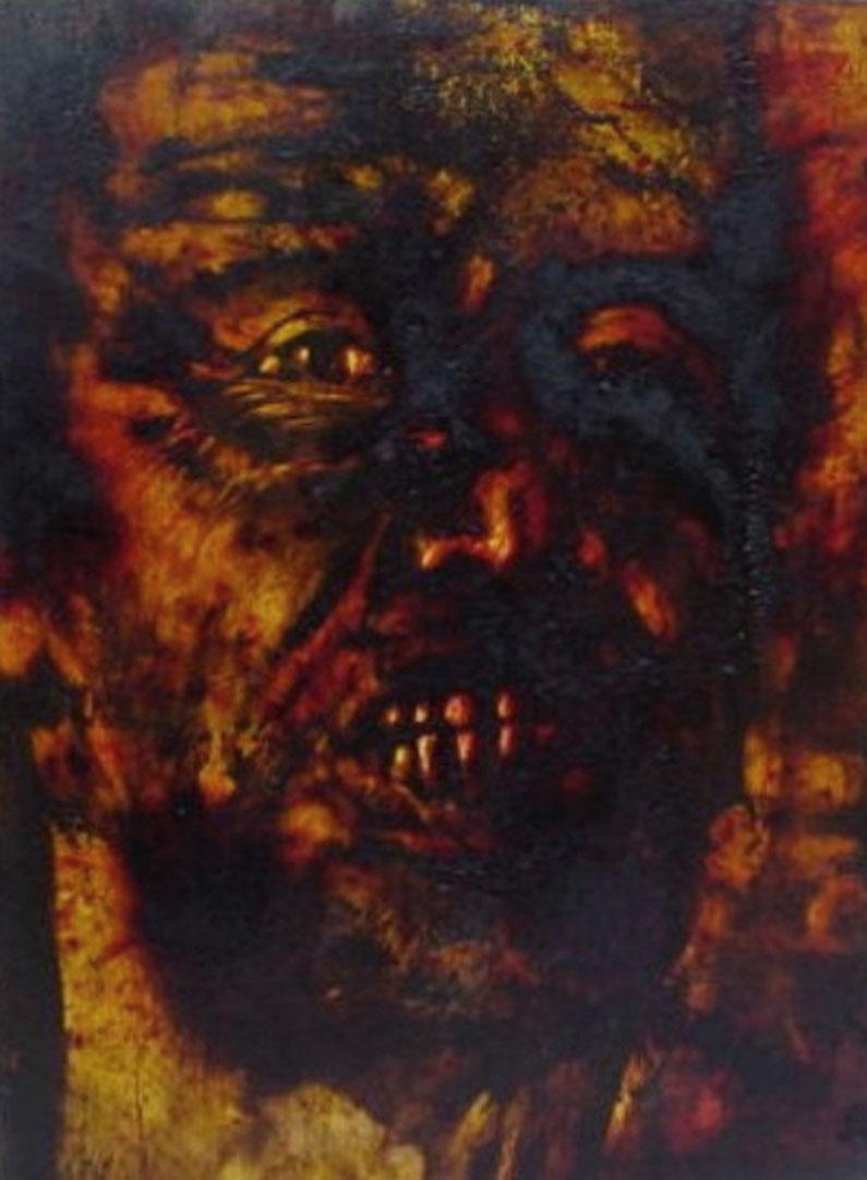 """""""Ah brutto boia zozzo!"""" (2009) olio su legno, cm (35 x 26)"""