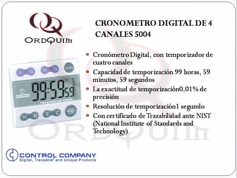CRONOMETRO DIGITAL DE 4 CANALES CONTROL COMPANY MOD. 5004
