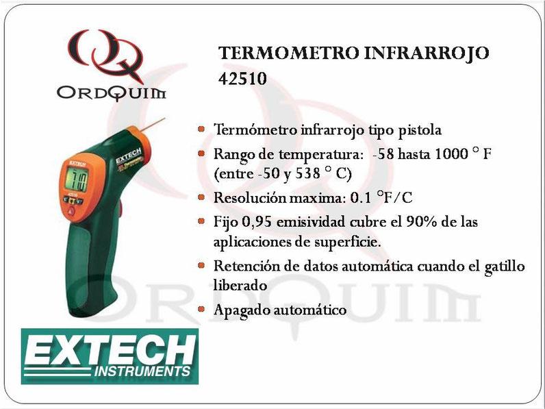 TERMÓMETRO INFRARROJO EXTECH 42510