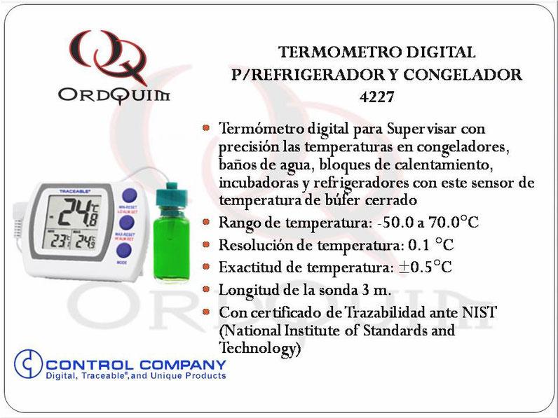 TERMOMETRO DIGITAL PAPA REFRIGERADOR Y CONGELADOR COTROL COMPANY CAT.4227