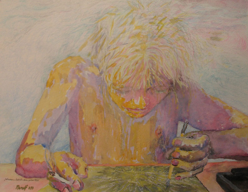 Portrait, Anamorphismus, Malerei