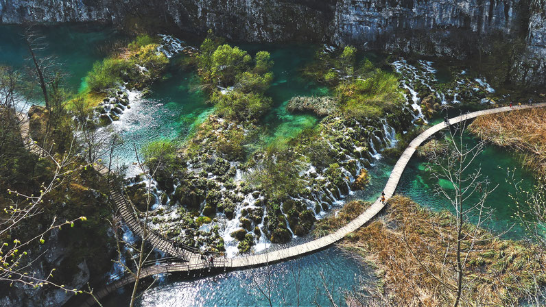 bigousteppes lac croatie cascade plitvice
