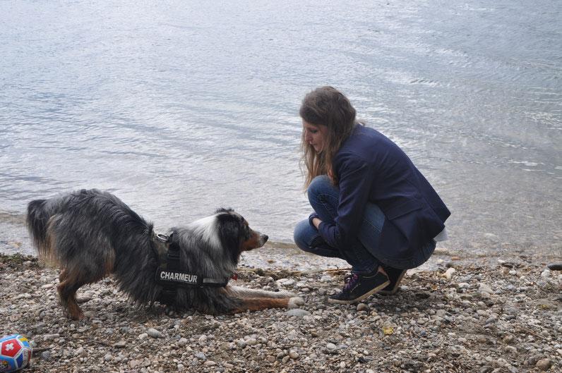 """Un """"salut"""" au bord du lac de Miribel"""
