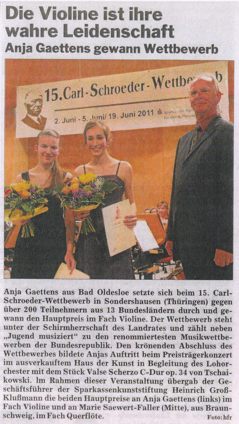Anja Gaettens Violine