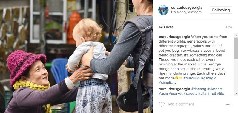Travel with a baby instagram account