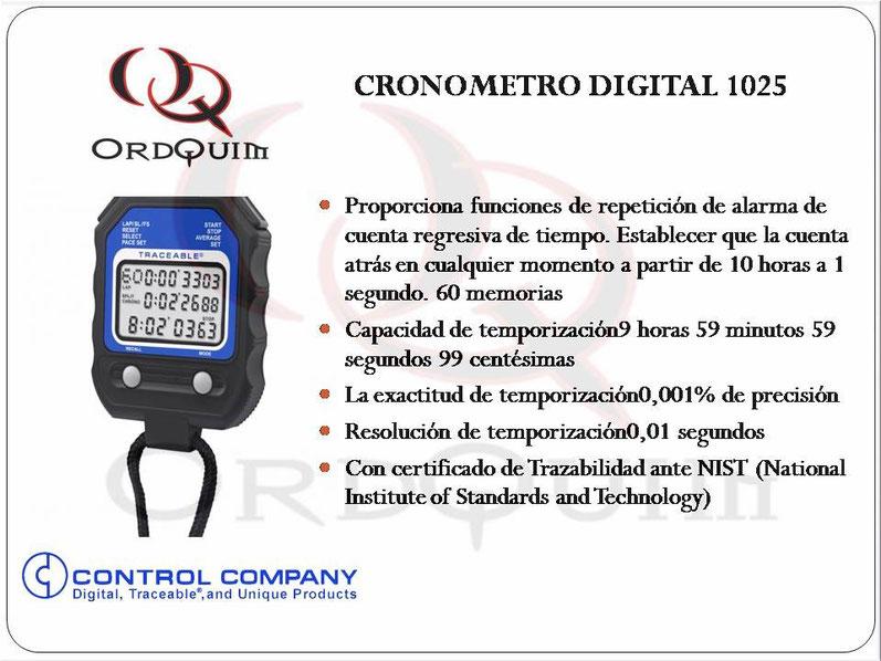 CRONOMETRO CONTROL COMPANY MOD. 1025