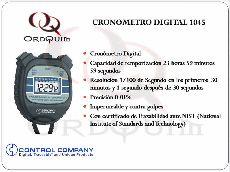 CRONOMETRO CONTROL COMPANY MOD. 1045