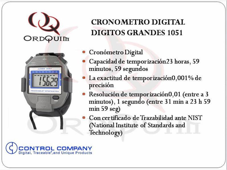 CRONOMETRO CONTROL COMPANY MOD. 1051