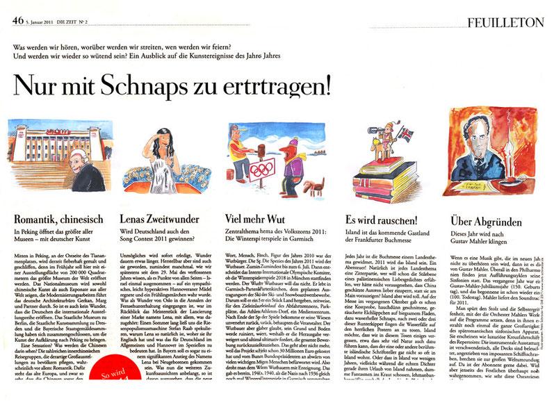 """Illustrator Niels Schröder für die Wochenzeitung """"Die Zeit""""."""