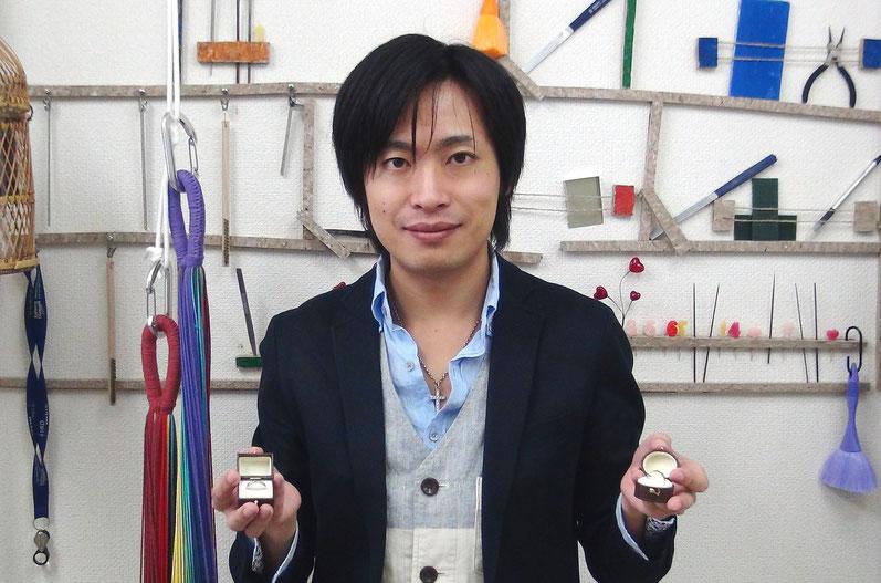 埼玉在住山本匠様の手作り結婚指輪