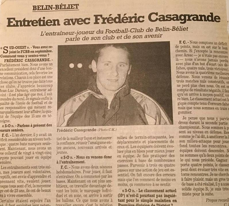 Article de Sud-Ouest publié en 2002