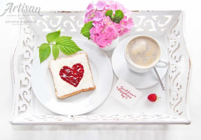 Frühstück mit Stampin Up Stempelset Bestickte Grüße