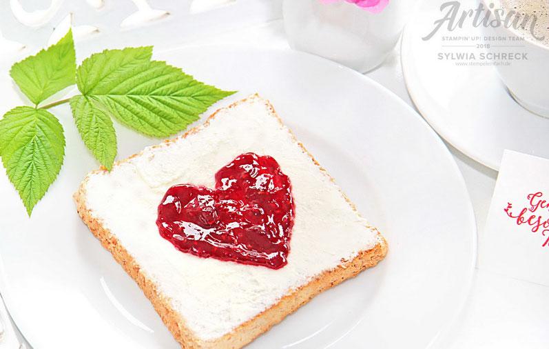 Marmeladen-Herz-Brot