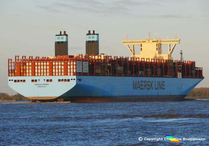 Maersk-Line Containerschiff der Triple-E Klasse, 2. Generation, MUNICH MAERSK