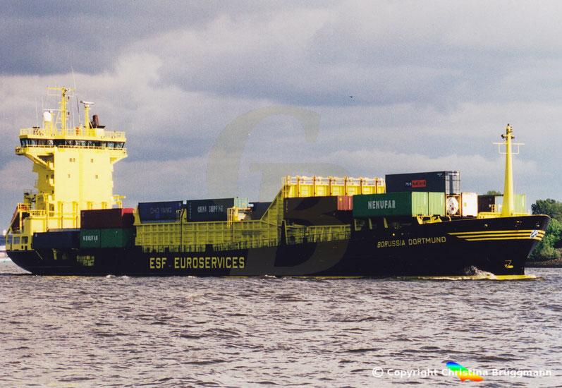 """Feeder Containerschiff """"BORUSSIA DORTMUND"""""""