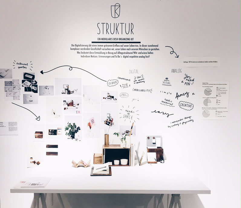 Stationary, Desktopsituation, Creativespaces, Modular Desk Organizing Tool, minimal design, Planning tool, Organization Tool, Planning Kit, Ceramics, Wood, Metal. Designed and produced at Zurich University of the Arts.  Exhibition situation.