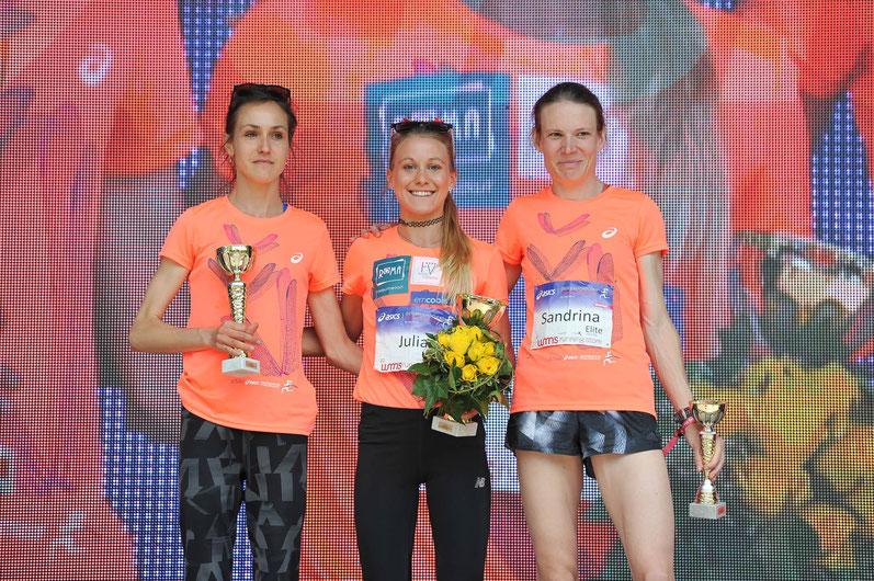 Frauenlauf Wien 2019 Caroline Makandi Gitonga (KEN) Camille Buscomb (NZL) Tara Palm (AUS) Julia Mayer DSG Wien Beste Österreicherin Schnabl Dippmann Pauer Nada Sandrina Illes Weltmeisterin
