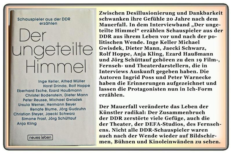 Der ungeteilte Himmel - Schauspieler aus der DDR erzählen