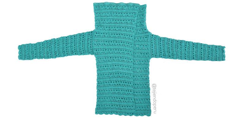 Chaqueta de un rectángulo tejido a crochet!