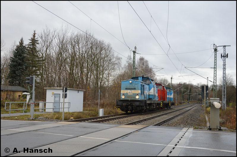 In Chemnitz-Furth wird der Zug gegen 14 Uhr erstmals erlegt