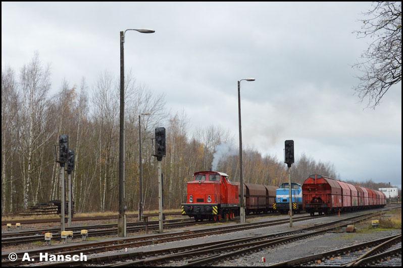 """Auch 346 615-8 bleibt """"oben"""" im Rbf. Für sie ist der zweite Schuppenplatz vorgesehen"""