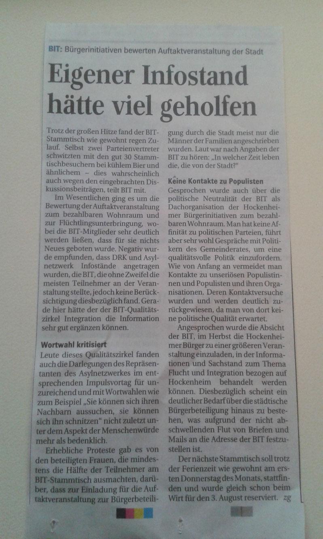 Quelle: Pressebericht Schwetzinger Zeitung vom 11.07.17