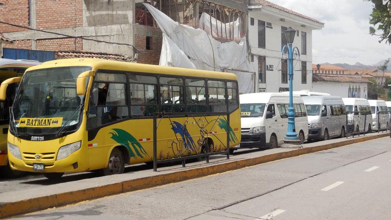 Der Batman-Bus bei einer Bus-Demo