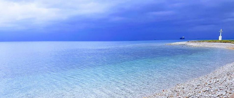 Izola: the lighthouse beach
