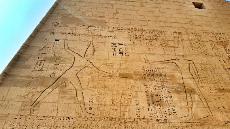 Esecuzione dei soldati Hyksos, Medinet Habu - Luxor