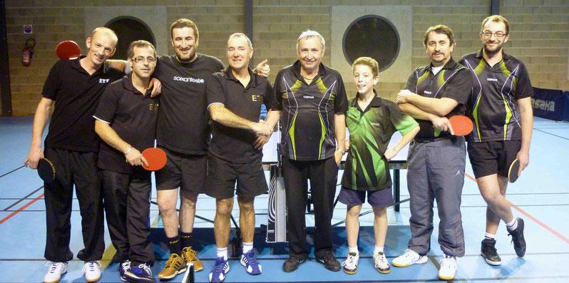 D3 contre ETT 3 : Matthieu, Christophe, Frederic et René.