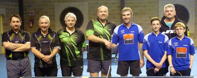 D3 contre LSA : Alexis L. (511), Mathieu S. (610), Christophe V. (664) et Tanguy M. (627).