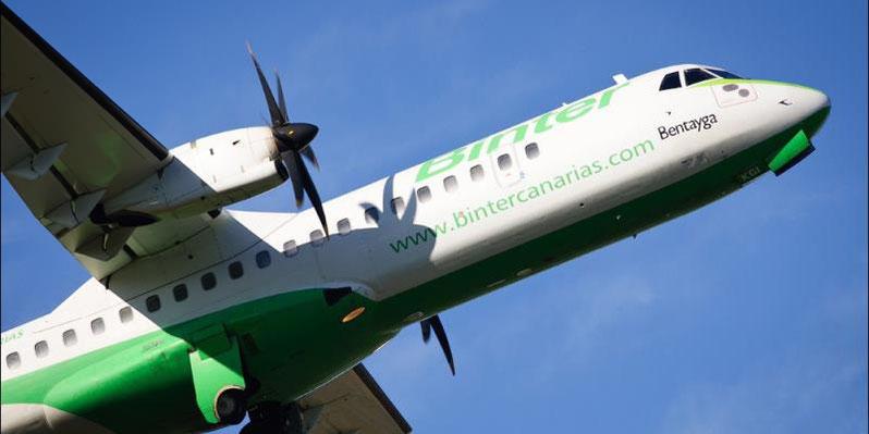 Flugzeug von Binter Canarias