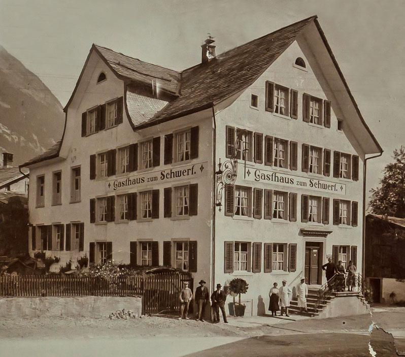 Hotel Schwert, erbaut 1837, abgebrochen 1948