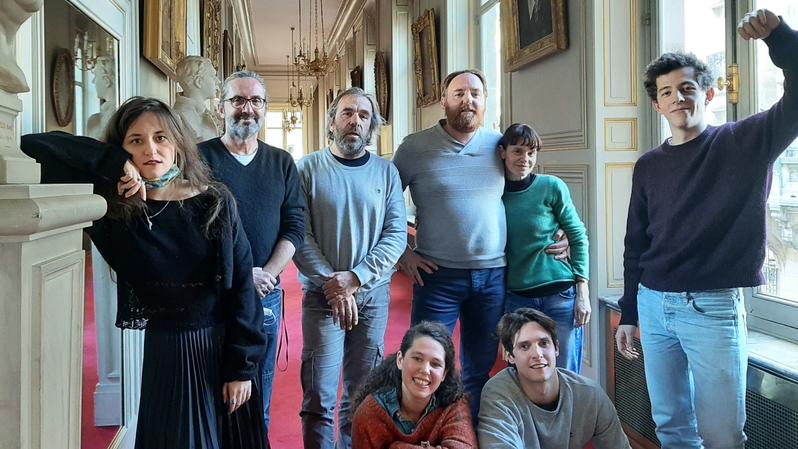 © RFI - L'équipe des comédiens de la Comédie-Française qui prennent part aux lectures avec Laurent Muhleisen, janvier 2021