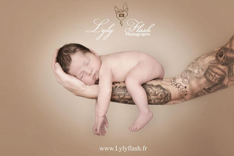 Naissance bébé photo nouveau-né photographe var Tattoo