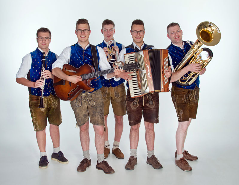 Moritz, Stefan, Moritz, Simon und Christian