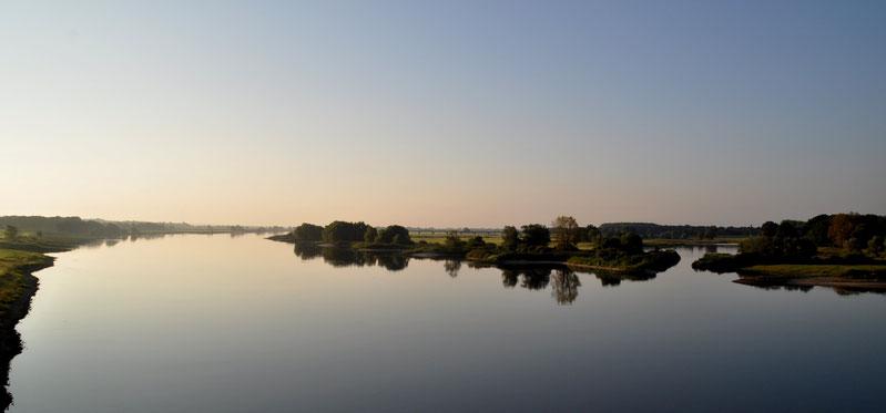 Die Elbe bei Dömitz                                                (Foto: F. Kündiger)