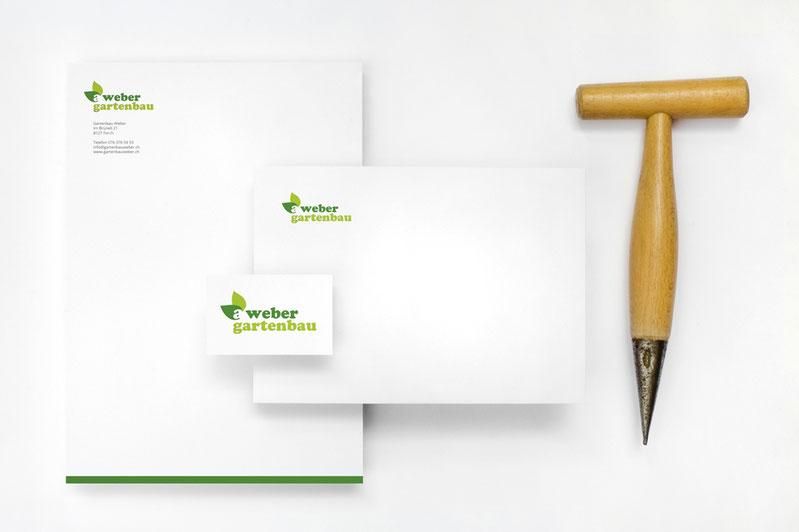 Gartenbau Weber Gestaltung der Briefschaft und der Visitenkarte