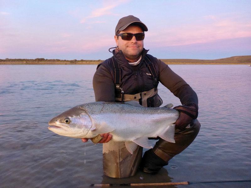 Alex mit einem Fisch um die 13 lb
