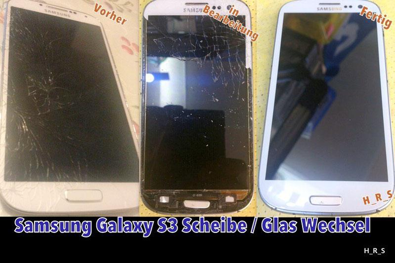Samsung Galaxy S3 Scheibe Tausch