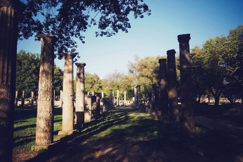 SITE ANTIQUE OLYMPIE GRECE BIGOUSTEPPES PELOPONNESE